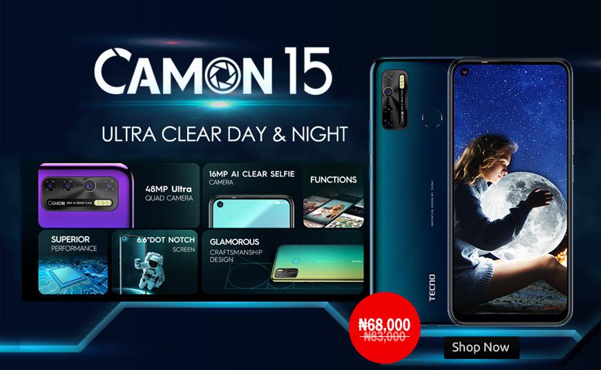 Buy Tecno Camon 15 phone online in Nigeria