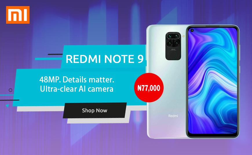 Buy  Xiaomi Redmi Note 9 Smartphone online in Nigeria